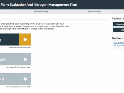 Farm Evaluation & Nitrogen Management Plan reporting website is open