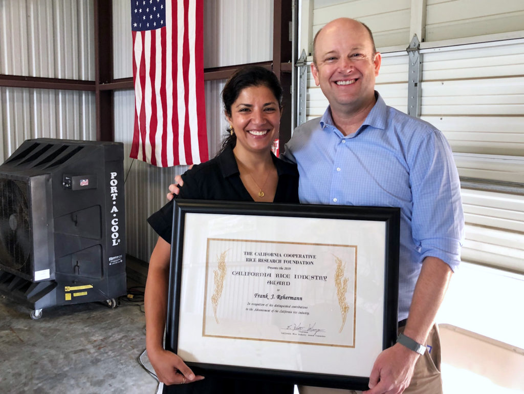 Frank Rehermann honored at Rice Field Day
