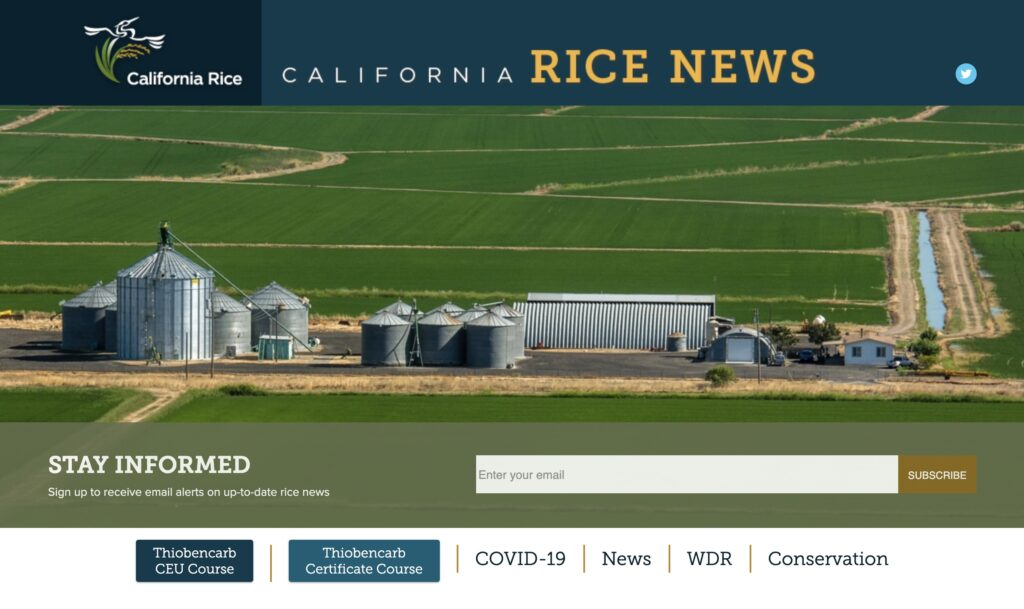 Rice Commission's Online Thiobencarb Stewardship Training Available